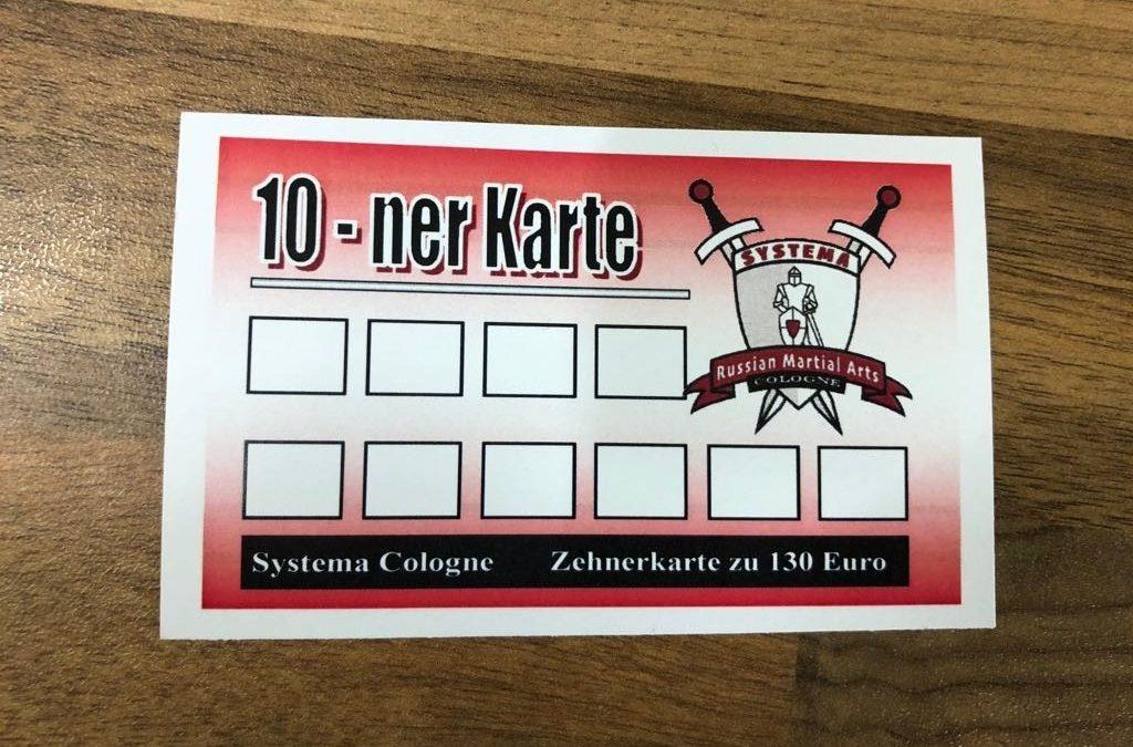 Neu – 10er Karte Systema Training in Köln.