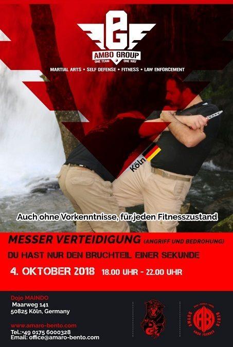 Seminar: Verteidigung gegen Messerangriff mit Amaro Bento