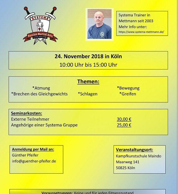 Systema Seminar mit Martin Schulte in Köln – November 2018